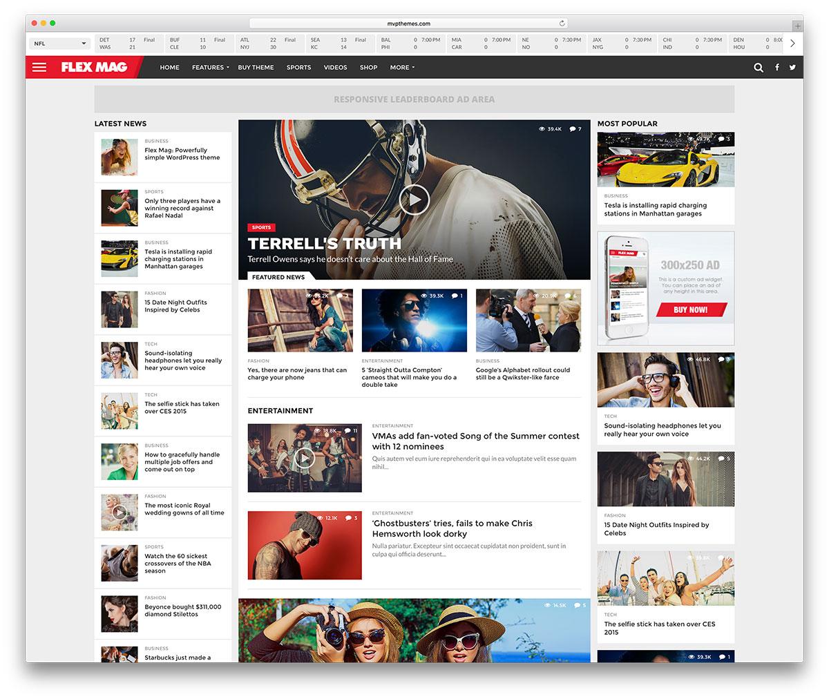14 Mejores Temas Wordpress Para Webs De Noticias De Deportes ...