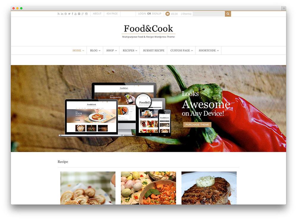 Mejores Temas WordPress Para Blogs De Cocina   Recursos WordPress ...