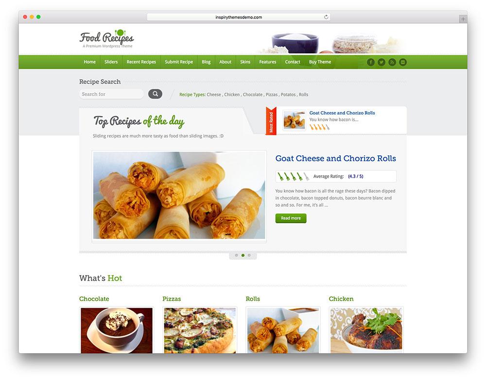 Mejores Temas WordPress Para Blogs De Cocina | Recursos WordPress ...