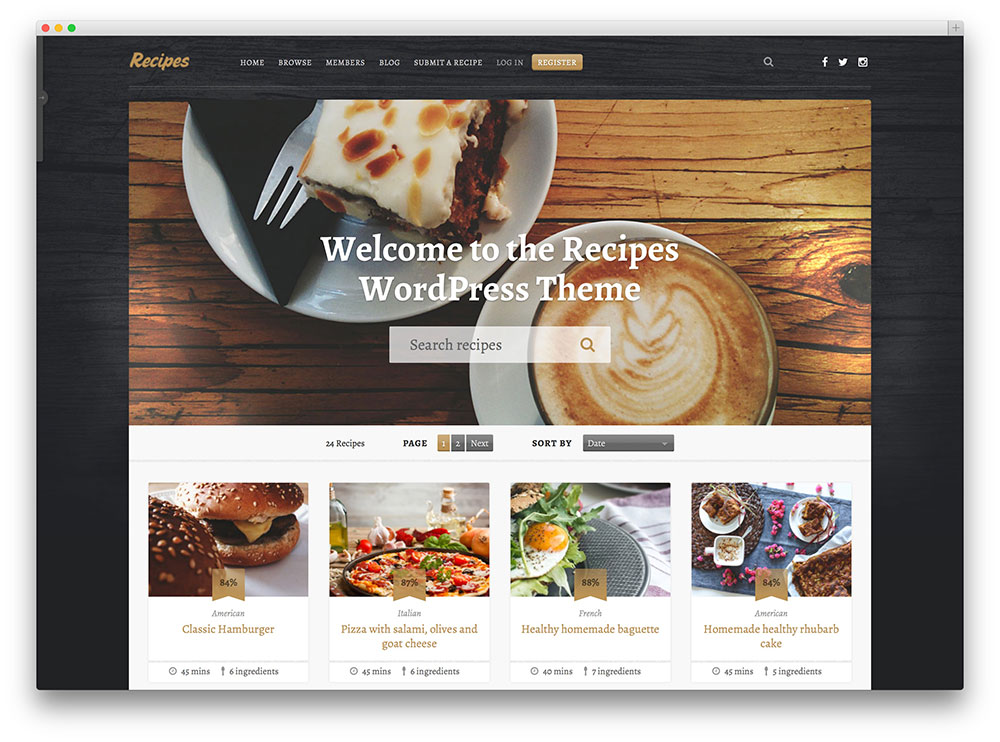 Mejores Temas Wordpress Para Blogs De Cocina